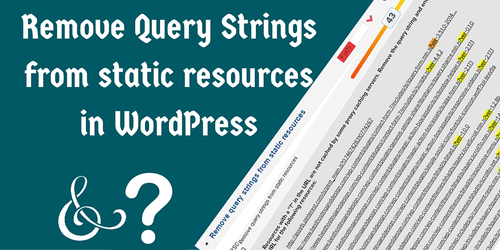 Remove Query Strings in WordPress CSS styles and JS Scripts