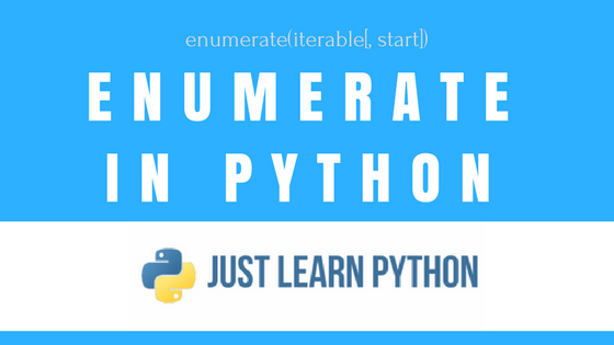 Python Enumerate function