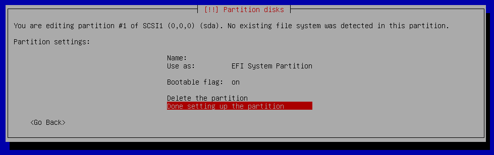 create efi partition 02