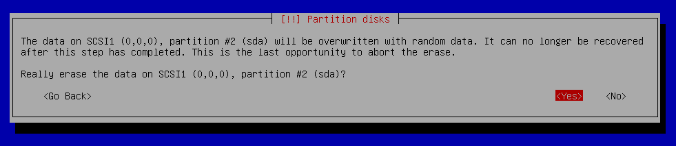 overwrite partition with random data