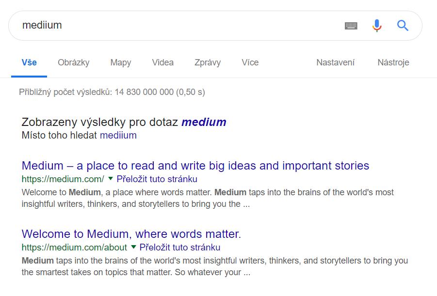 google incorrect word