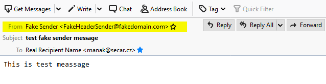 email header From: you see in your email client
